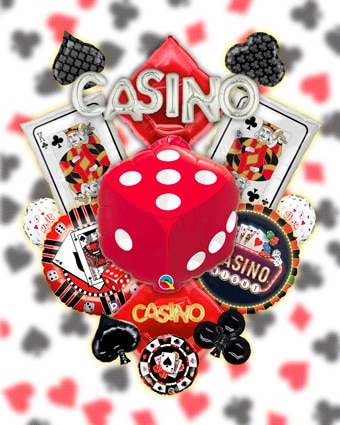 Casino Foil Balloons and Mylar Balloons
