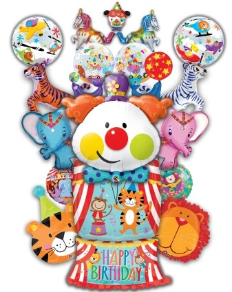 Clown and Circus Foil/Mylar Balloons