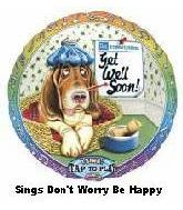 "28"" Get Well ""Don't Worry Be Happy"" Sing-a-Tune Balloon"