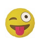 """18"""" Emoji Winking Shape Foil Balloon"""