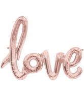 "30"" Wide Airfill Only LOVE Script Rose Gold Foil Balloon"