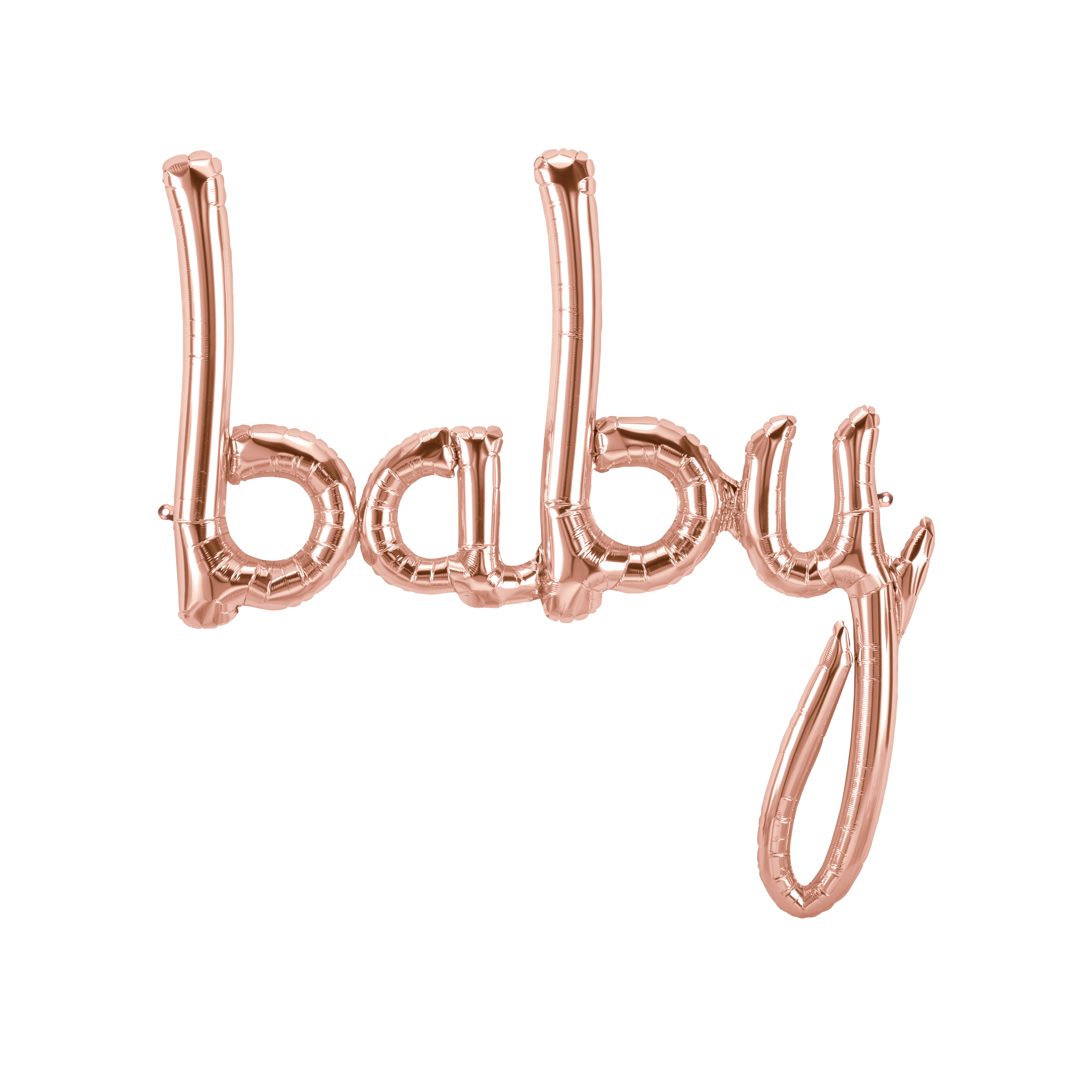 """34"""" Airfill Only Baby Script - Rose Gold Script Word"""