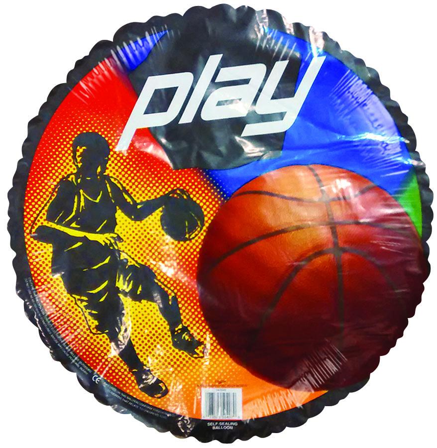 "18"" Play! Basketball Player Black Border Balloon"