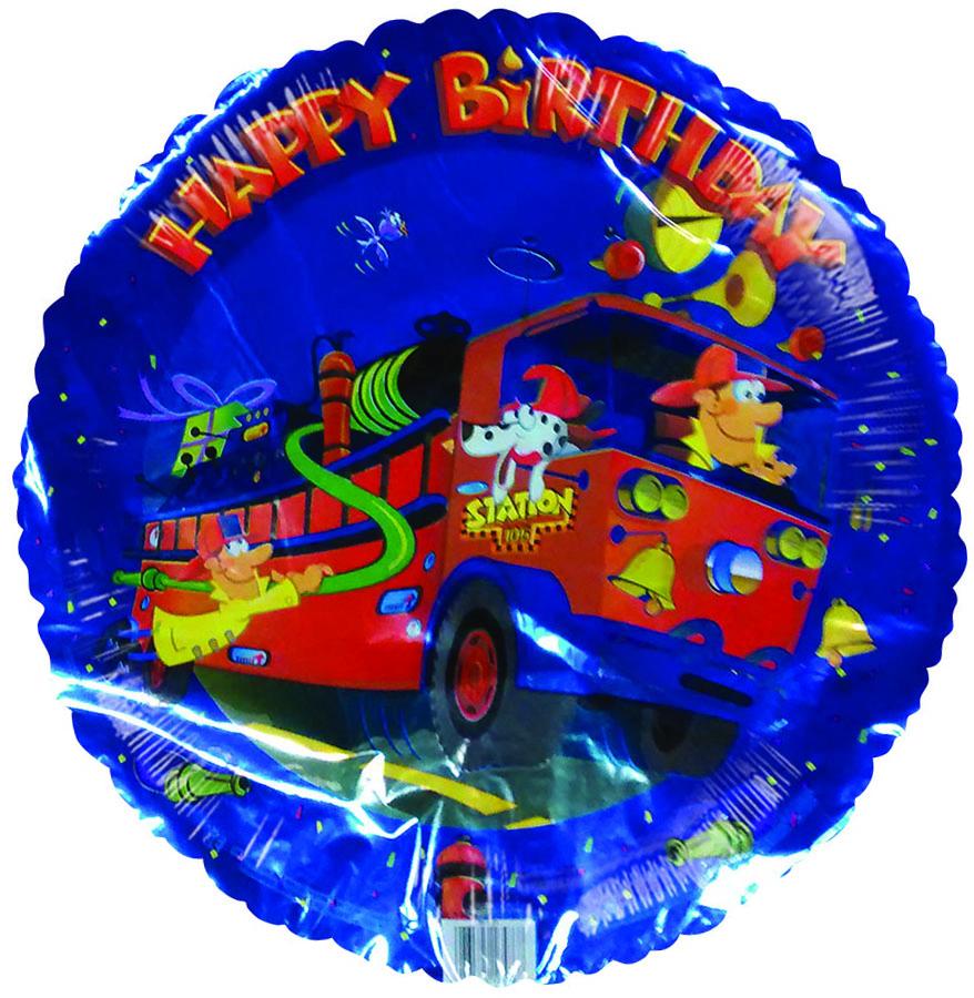 "18"" Happy Birthday Firetruck on the go"