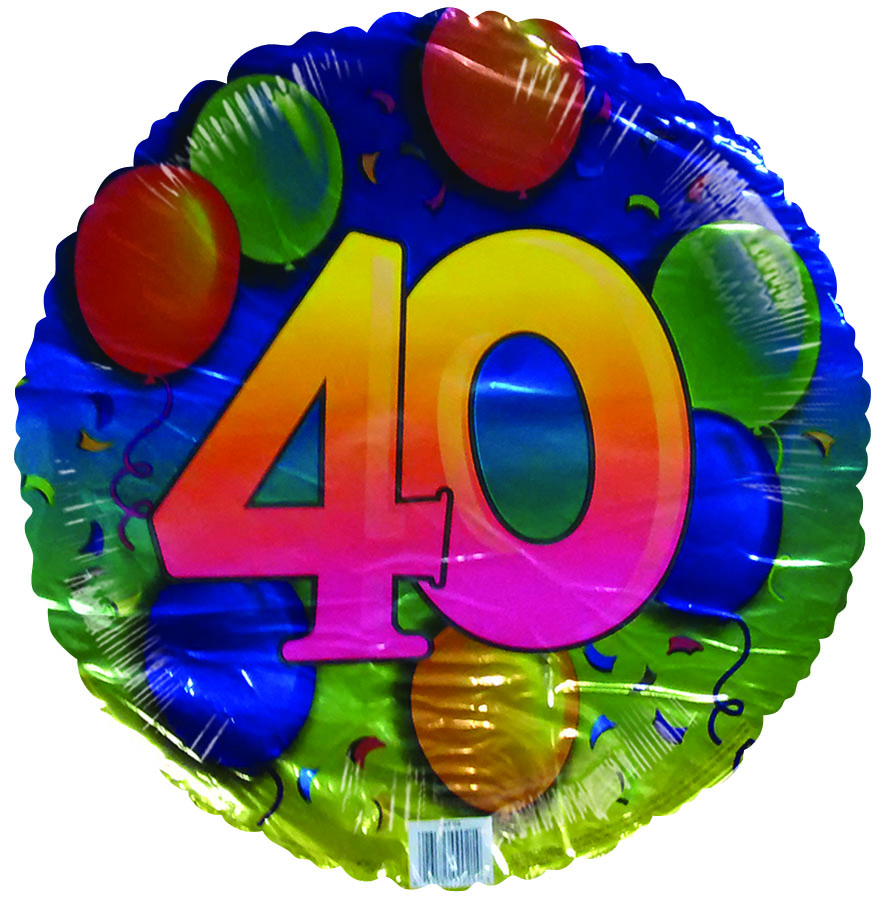 """18"""" 40th Floating Balloons"""