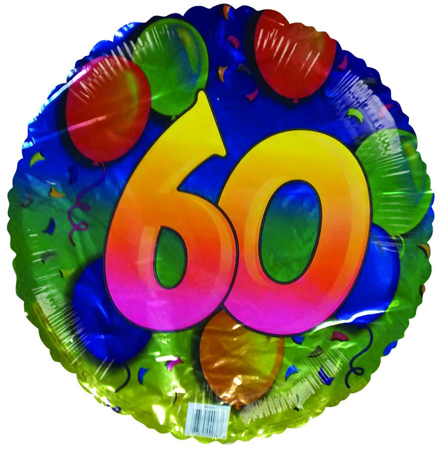 "18"" Happy 60th Birthday Floating Balloons"