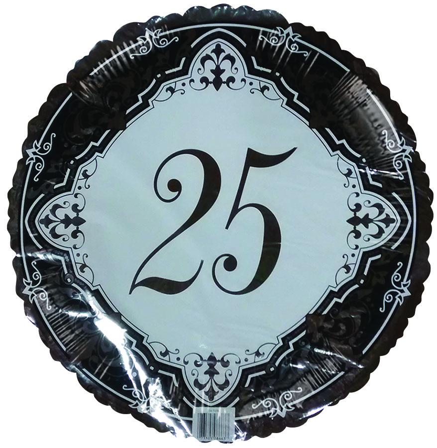 "18"" Silver 25th Wedding Anniversary"