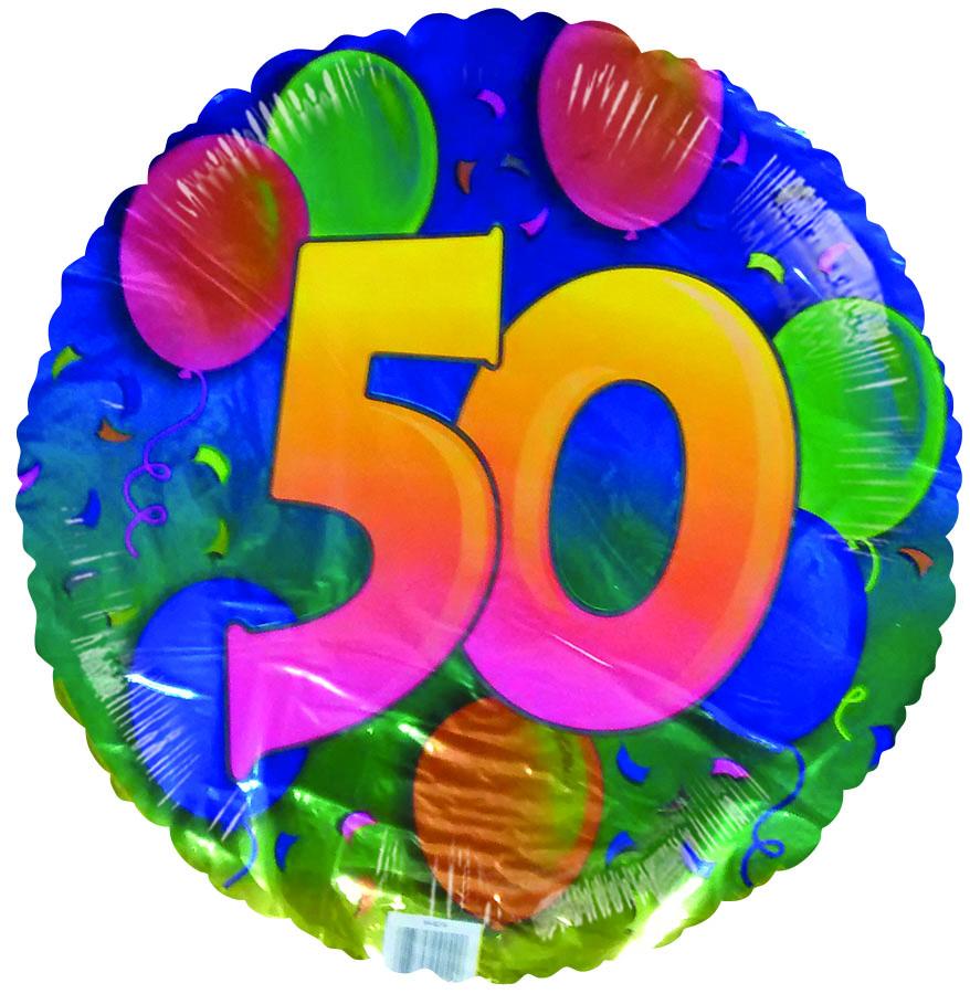 "18"" 50th Birthday Floating Balloons"