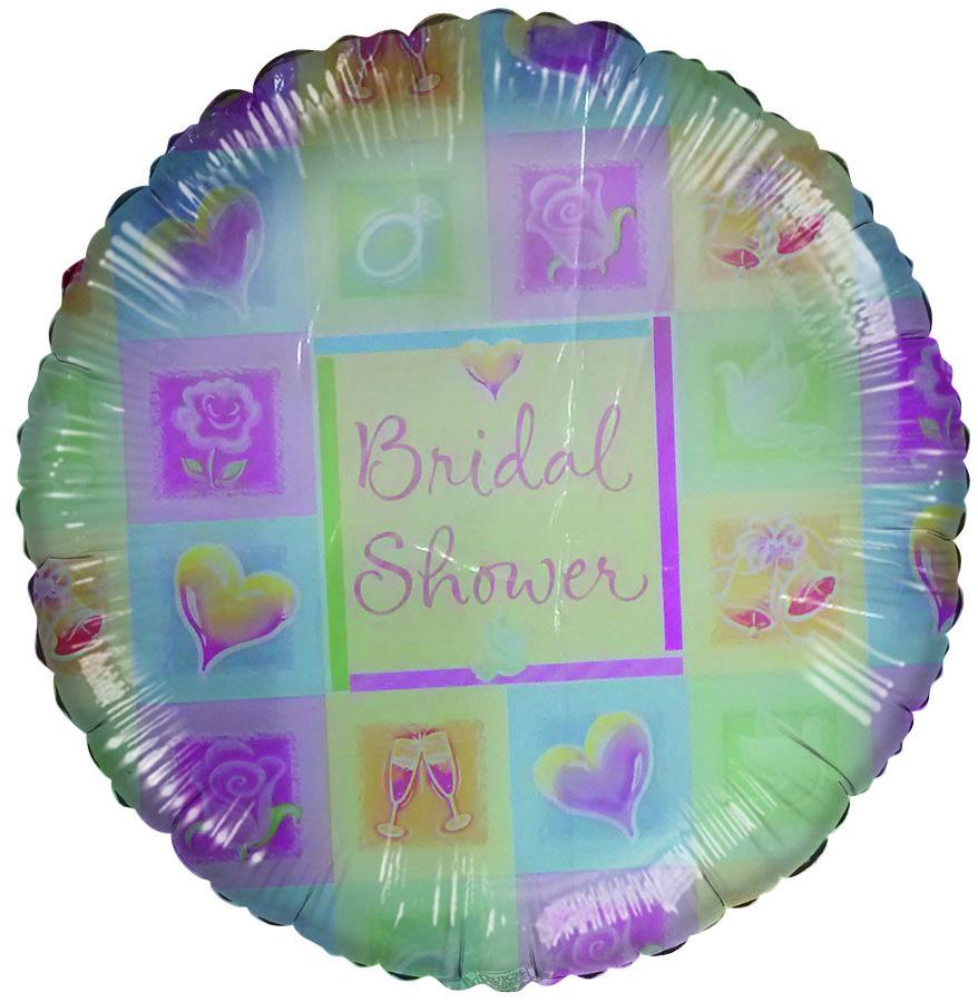 """18"""" Bridal Shower colorful Pastel Squares slightly damaged"""