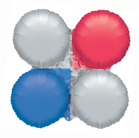 "30"" Magic Arch Large Balloon Metallic Red, Silver & Blue"