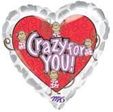 "18""  Crazy For You Love Monkeys"