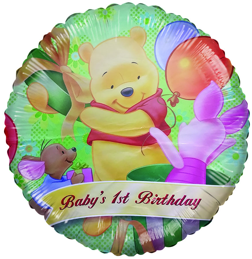 "18"" Licensed Winnie the Pooh Baby's 1st Birthday"