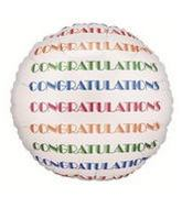 "24"" Congrats Repeat Round Balloon"