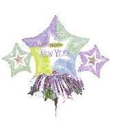 """14"""" New Year Star Cluster (Balloon Only)"""