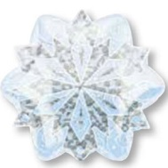 "21""Junior Shape Holographic White Christmas Snowflake"