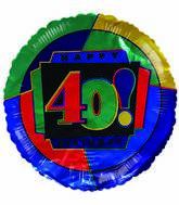 "18"" Happy 40th Birthday"