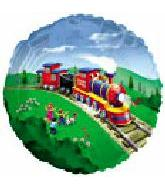 Train Balloons Mylar Balloons