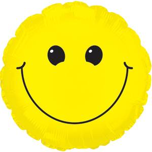 """17"""" Solid Yellow Smiley Face Balloon"""