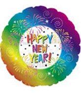 """18"""" Happy New Year Rainbow Border"""