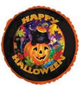 """18"""" Happy Halloween Cat and Pumpkin"""