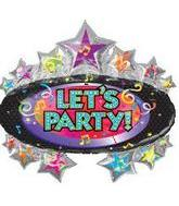 "31"" Let's Party Marquee"