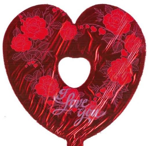 "9"" Airfill I Love You Roses Cutout"