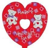 "9"" Airfill Happy Valentine's Day Bears"