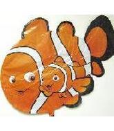 "43"" Orange Fish w/Baby"