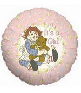 """9"""" Airfill Balloon RAGGEDY ANN BABYGIRL"""