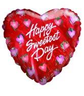 Happy Sweetest Day Hearts Airfill Balloon
