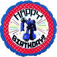 "24"" Happy Birthday Robot Balloon"