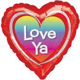 """18"""" Love Ya Rainbow Balloons"""