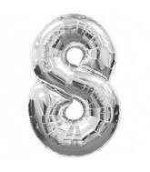 "34"" Large Number 8 Shape Silver"