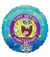 "28"" Jumbo Licensed Sing-A-Tune SpongeBob Birthday Balloon"