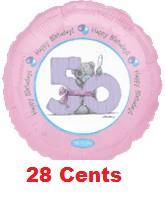 "18"" Happy Birthday 50th (Slight Damaged Print)"