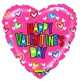 """21"""" Mighty Pink Valentine Balloon"""