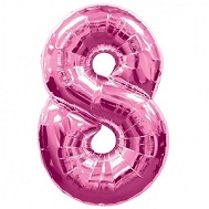 """34"""" SuperShape 8 Pink Balloon Packaged"""