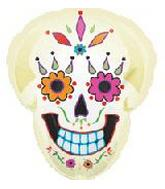 22'' Day of the Dead Skull Balloon