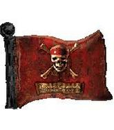 30'' Pirates of the Caribbean Flag Shape Balloon