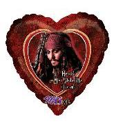 "32"" Pirates Caribbean Stole Heart Balloon"