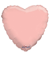 "9"" Airfill Only Solid Rose Gold Heart Balloon"