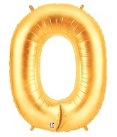 "40"" Large Number Balloon 0 Gold"