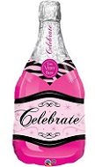 "39"" Celebrate Bubbly Wine Bottle Pink Balloon"