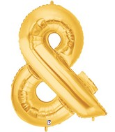 "40"" Foil Shape Balloon Gold Ampersand Megaloons"