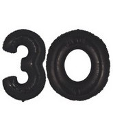 "40"" Black Megaloon Numbers ""30"""
