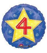 """18"""" Stars & Swirls Birthday #4"""