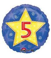 """18"""" Stars & Swirls Birthday #5"""