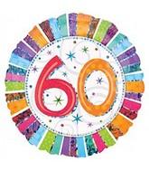 "18"" Radiant Prismatic 60th Birthday Balloon"