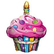 """27"""" Fun & Funky Cupcake Jumbo Balloon"""