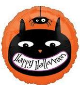 "18"" Halloween Cat & Spider Balloon"